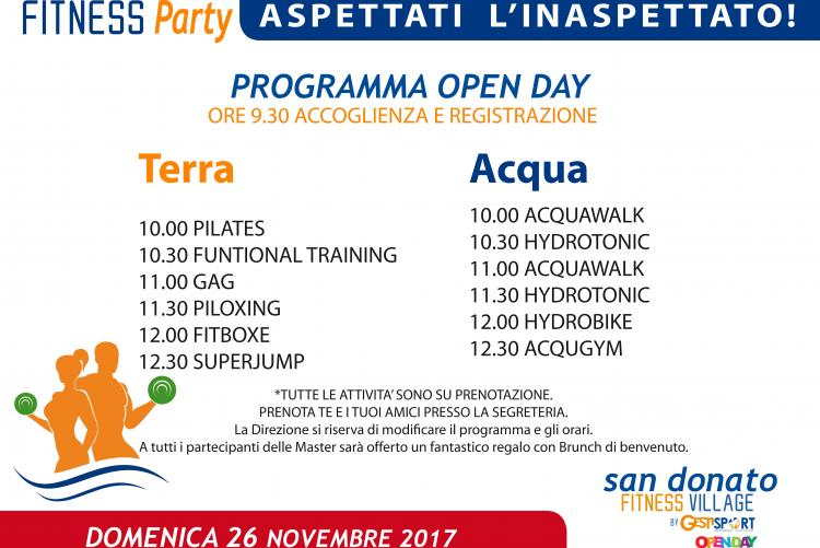 OPEN FITNESS PARTY DOMENICA 26 NOVEMBRE